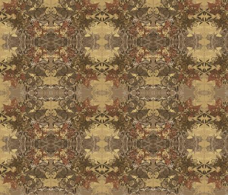 Autumn damsk fabric by doracreation on Spoonflower - custom fabric