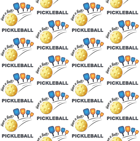 Have a Ball with Pickleball fabric by fabrique_dubois on Spoonflower - custom fabric