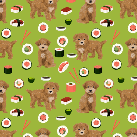 bichpoo_sushi fabric by petfriendly on Spoonflower - custom fabric