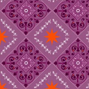 Bohemian Raspberry Mandala