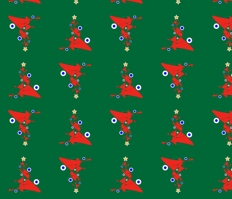 Christmas Musings Abstract Tree fabric by srqmercantile on Spoonflower - custom fabric