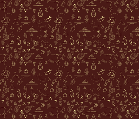 Bohemian fabric by svaeth on Spoonflower - custom fabric
