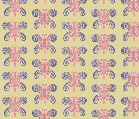 bohemian butterfly - pink fabric by deborahi on Spoonflower - custom fabric