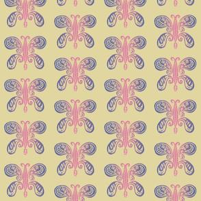 bohemian butterfly - pink