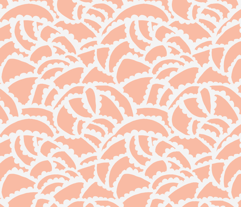 Cloud Lake Dusk Rose fabric by katebillingsley on Spoonflower - custom fabric