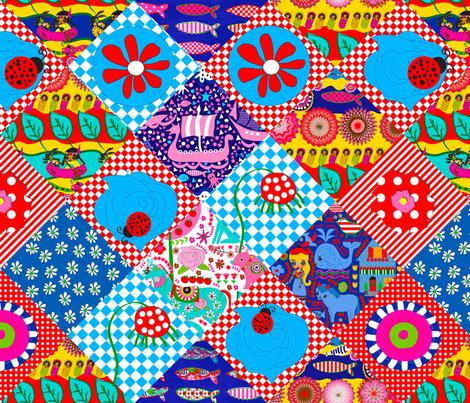 Crazy Baby Boho fabric by orangefancy on Spoonflower - custom fabric