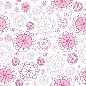 Random Boho Blooms Blush Pink