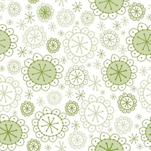 Random Boho Bloom Sage Green
