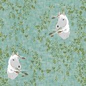 Horse_-_floral_-_green-linen2_shop_thumb