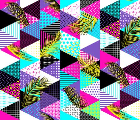 21s Century Memphis Style Neon fabric by wickedrefined on Spoonflower - custom fabric