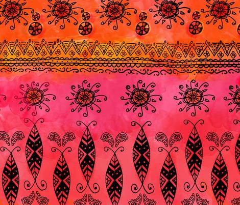 Boho Spice fabric by litlnemo on Spoonflower - custom fabric