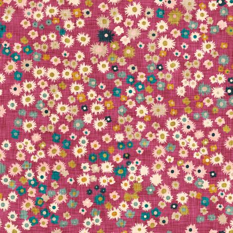 Wildflower pop (magenta) fabric by nouveau_bohemian on Spoonflower - custom fabric