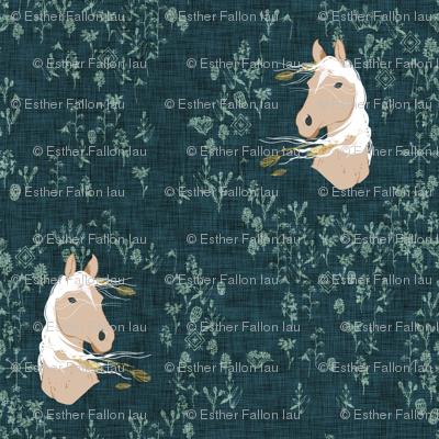 Pony Meadow (dark teal)
