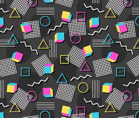 Welcome to the 90's fabric by robyriker on Spoonflower - custom fabric