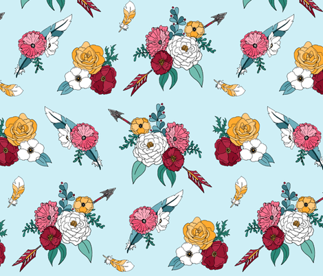 Bohemian  Flowers fabric by pond_ripple on Spoonflower - custom fabric