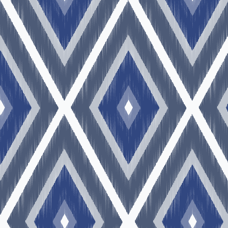 iKAT Bohemiam Blues-Medium fabric by cleolovescolor on Spoonflower - custom fabric