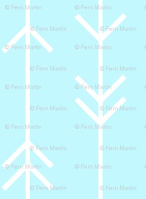 Arrow Lines on Light Blue