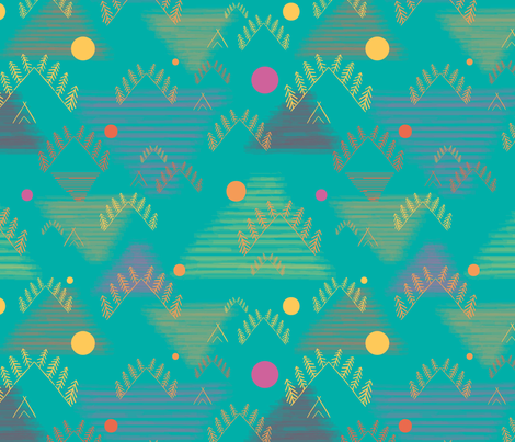 Mountain_Love fabric by ellie_b_funk on Spoonflower - custom fabric