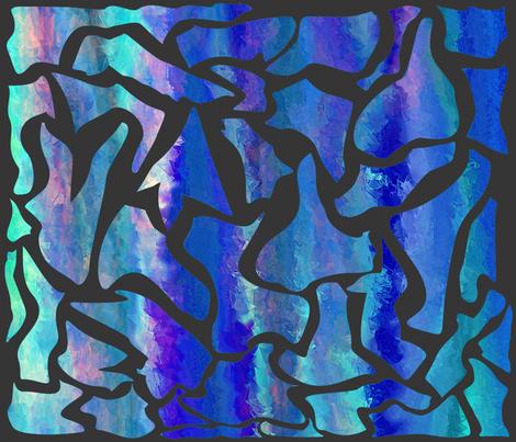 Shattered Ocean fabric by ladyfayne on Spoonflower - custom fabric