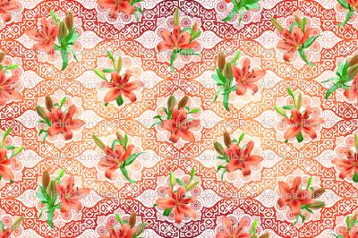 flowers and geometric flowers