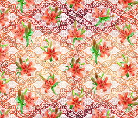 flowers and geometric flowers fabric by analinea on Spoonflower - custom fabric