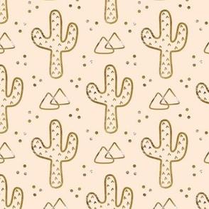Gold Desert Cacti