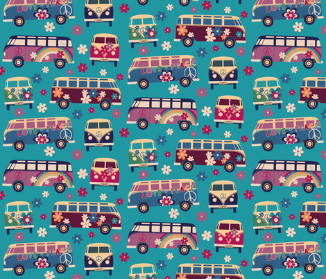 Love_and_Peace fabric by bluecoin on Spoonflower - custom fabric