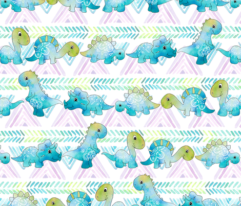 Boho Dino fabric by gingerlique on Spoonflower - custom fabric