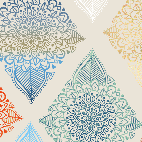 Boho Diamonds fabric by tangerine-tane on Spoonflower - custom fabric