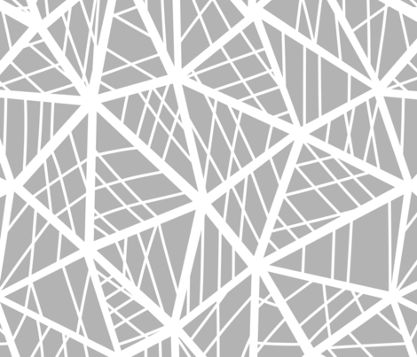 grey triangles fabric by klivenkova on Spoonflower - custom fabric