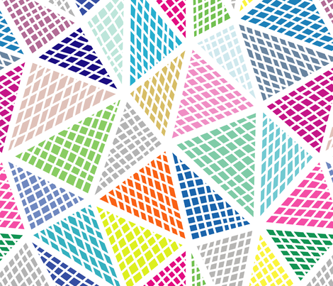 colorful triangles fabric by klivenkova on Spoonflower - custom fabric