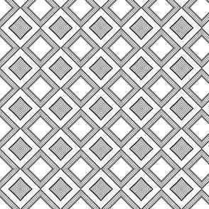 black&white diagonal squars