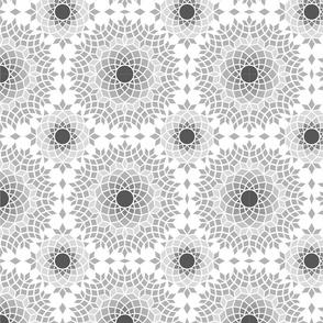 monochrome mosaic