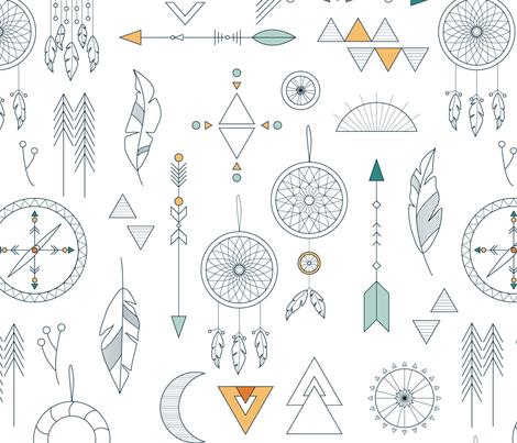 modern boho fabric by nanamira on Spoonflower - custom fabric