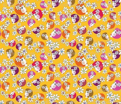 BoHo_flower_girl_yellow