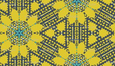 Pointillist Sunflowers by Friztin