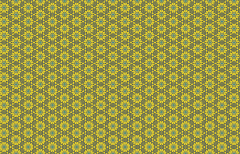 Pointillist Sunflowers by Friztin fabric by friztin on Spoonflower - custom fabric