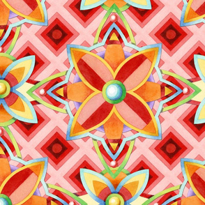 Geometric Suzani Ombre