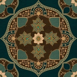 Bohemian Medallion {Teal}