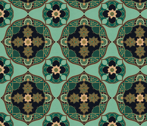 Bohemian Medallion {Turquoise} fabric by ceciliamok on Spoonflower - custom fabric