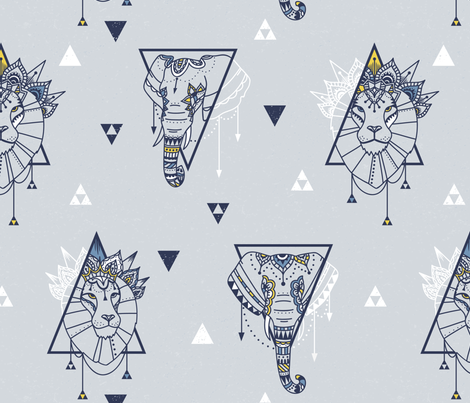 Bohemian Triangles fabric by tracey_knight on Spoonflower - custom fabric
