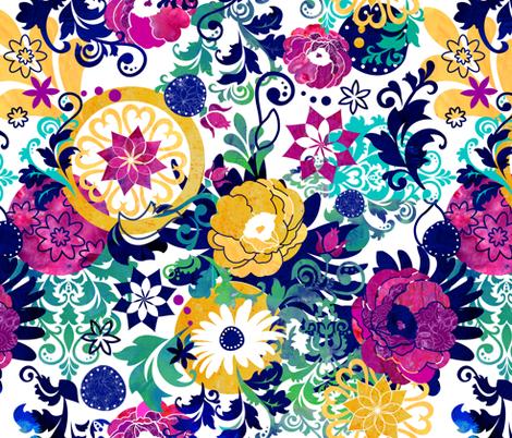Bohemian Floral fabric by sarah_treu on Spoonflower - custom fabric