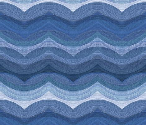 Painted Hills - indigo fabric by ormolu on Spoonflower - custom fabric