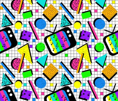 I Want My Music TV fabric by irishvikingdesigns on Spoonflower - custom fabric
