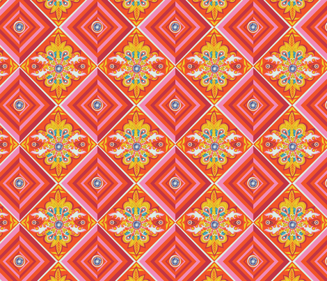 Bohemian geo fabric by irrimiri on Spoonflower - custom fabric