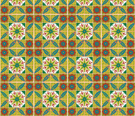 Boho_tiles_square fabric by katebartholomew on Spoonflower - custom fabric