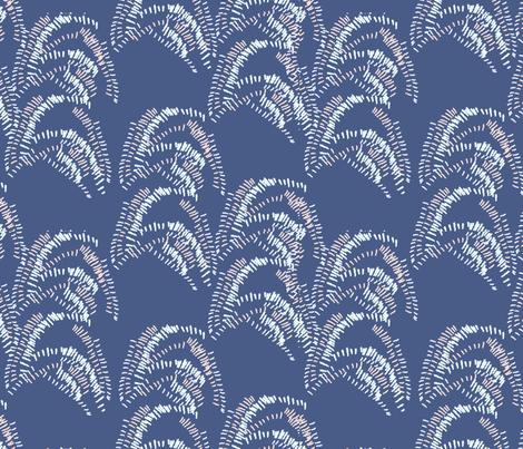 Brushstroke Navy fabric by alysonjonlife on Spoonflower - custom fabric