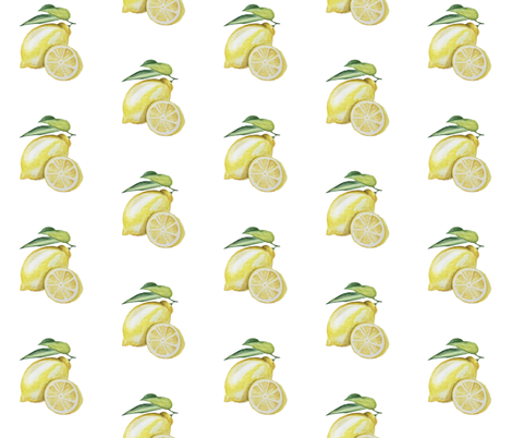 Yellow Lemon fabric by parulbyparul on Spoonflower - custom fabric