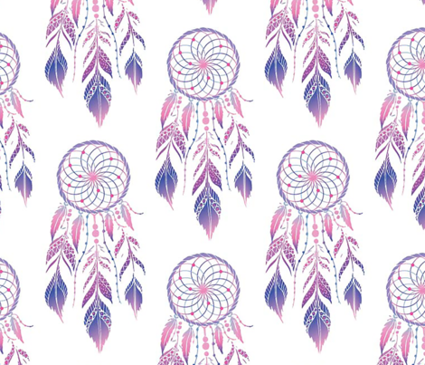 BOHO_DREAM_CATCHER_ fabric by trendy_creations on Spoonflower - custom fabric
