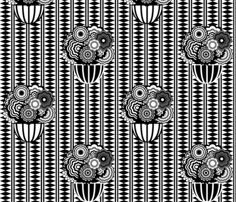 Bohemian Stripe and Flower Pots  fabric by caroline_ranere on Spoonflower - custom fabric